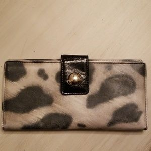 Wallet with cowhide design
